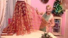 Новогодняя юбка отОльги Никишичевой